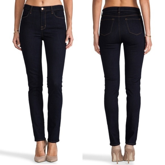 J Brand Denim - J Brand Maria High Rise Skinny Jeans Dark Wash 28